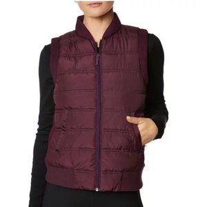 NWT Betsey Johnson Burgundy Quilted Vest szL